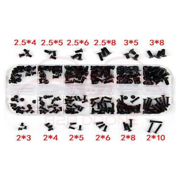 Set 240 pezzi Viti M2 M2.5 M3 Phillips a testa piatta per modellismo e fai da te