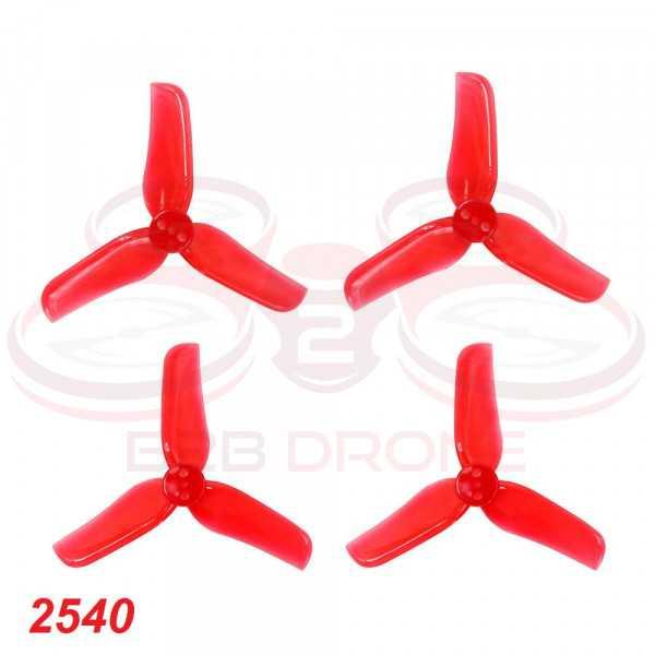 Racerstar - Set Eliche Tri-pala 2540 (4 CW / 4 CCW) per Droni FPV Racing - Colore Rosso