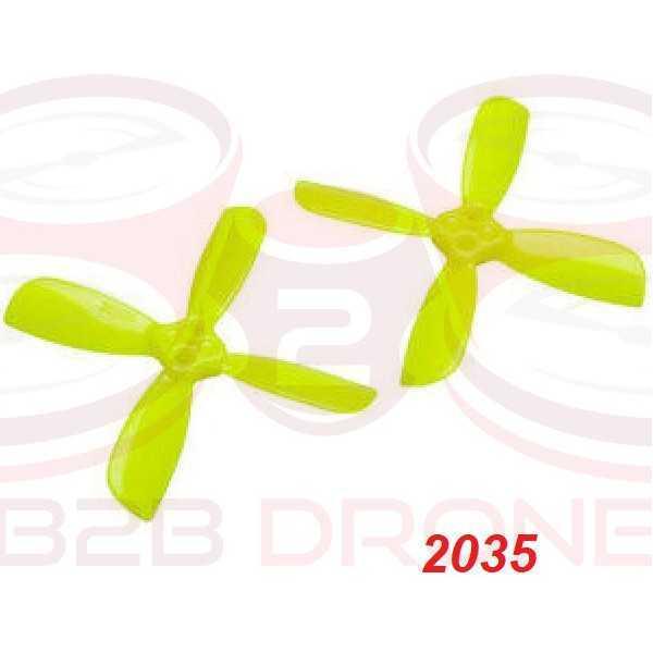 LDARC/KINGKONG - Set Eliche 2035 (2 CW / 2 CCW) Quadripala - Colore Giallo