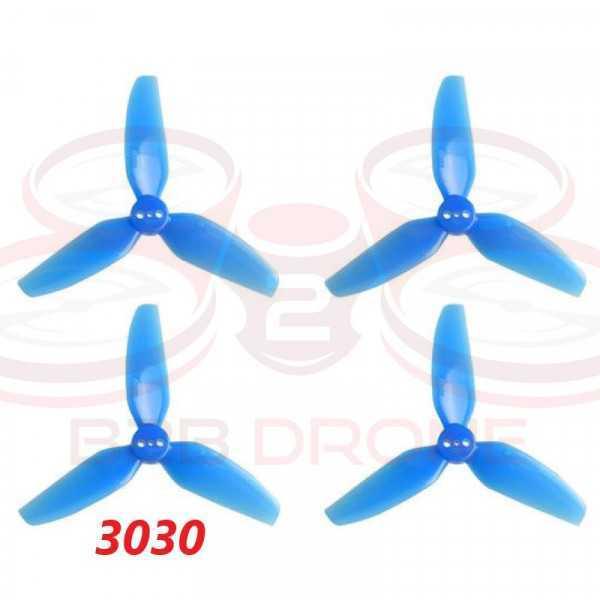 BetaFPV - Set Eliche HQProp 3030 tripala (2 CW - 2 CCW) - Colore Blu