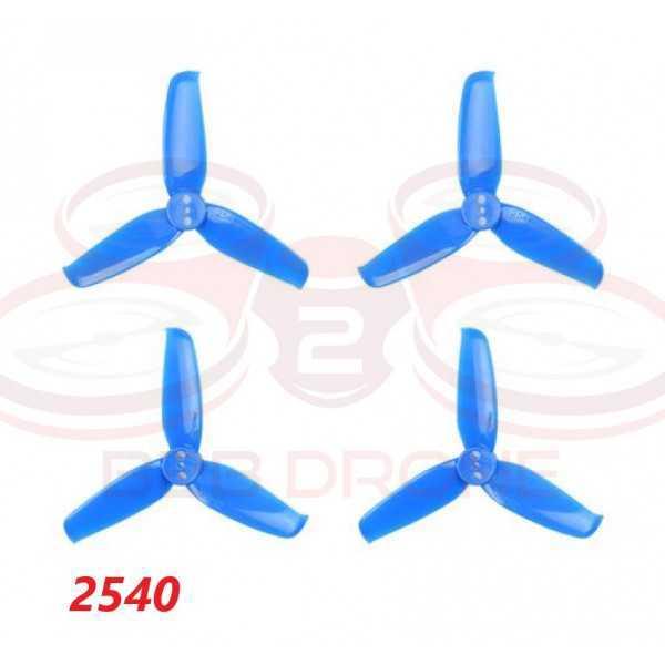 BetaFPV - Set Eliche GEMFAN Tripala 2540 (2 CW - 2 CCW) Colore Blu