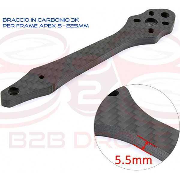 Braccio 5.5mm in Carbonio 3K per Frame Apex 5 225mm