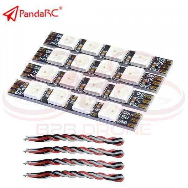 PandaRC - Set 4 LED 5V RGB Mod. LED0539 programmabili per Droni FPV con FC F3/F4