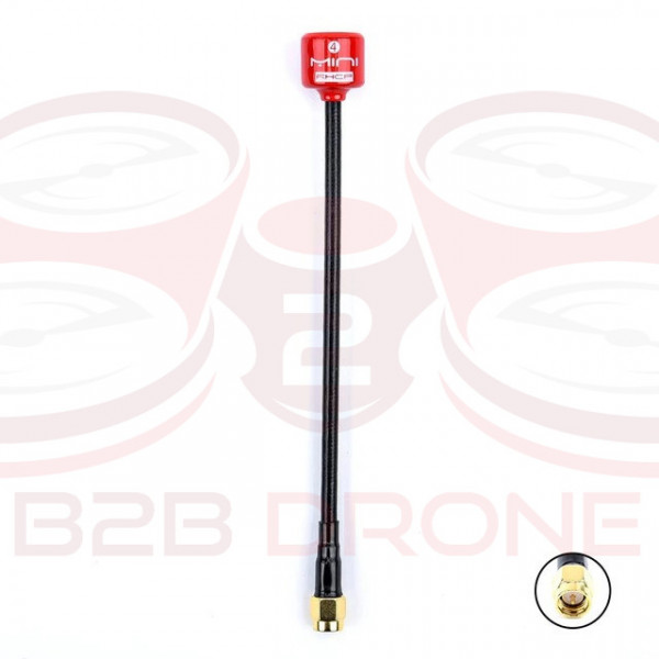 Antenna FPV 5.8G Stelo lungo 148mm / Lollipop 4 RHCP 2.8Dbi SMA - Colore Rosso