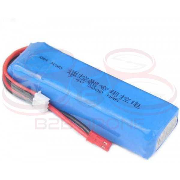 Batteria LIPO 3000mah 7.4V 10C 2S1P - JST