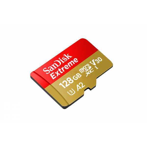 SanDisk Extreme Scheda di Memoria microSDXC da 128 GB V30 A2