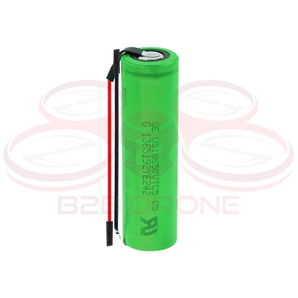 Batteria VTC5 18650 - 2600mAh - 3.7 Volt ad Alto Drenaggio - Li-Ion