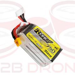 Tattu R-Line 750mAh 14.8V 4S1P 95C Lipo Battery Pack - Plug XT30