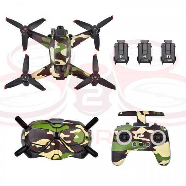 DJI FPV - Sticker Camouflage Green per Drone Radiocomando e Goggles - STARTRC