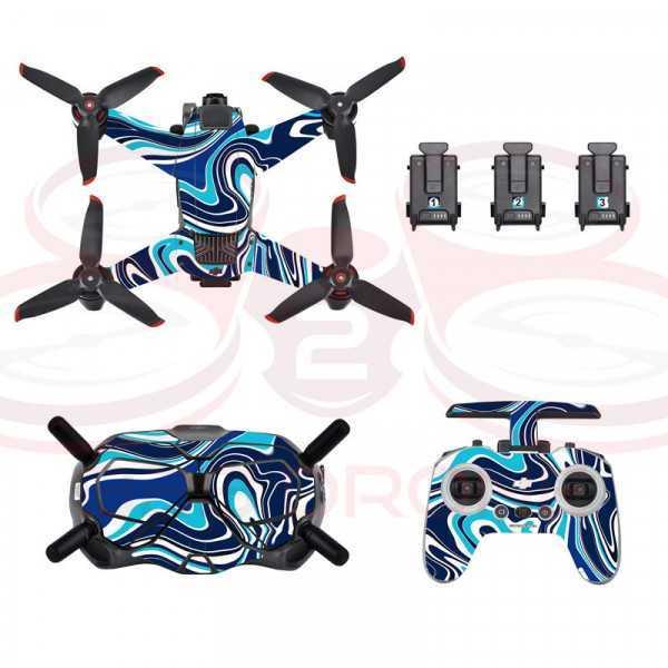 DJI FPV - Sticker Colorful Blue per Drone Radiocomando e Goggles - STARTRC