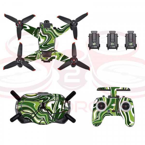 DJI FPV - Sticker Colorful Green per Drone Radiocomando e Goggles - STARTRC