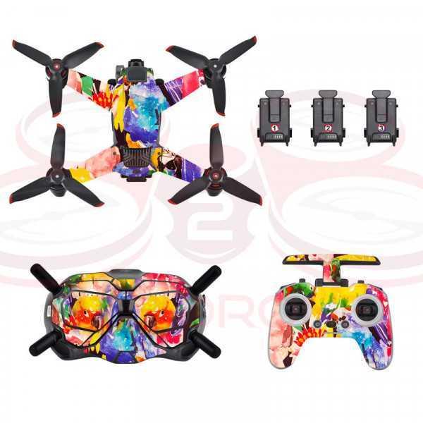 DJI FPV - Sticker Colorful Graffiti per Drone Radiocomando e Goggles - STARTRC