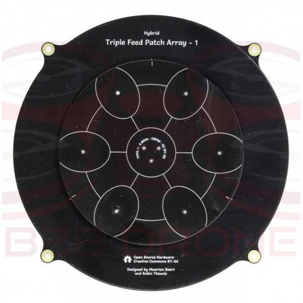 Antenna Pagoda 5.8 GHz 14dBi 150MM Triple Patch Array per Droni FPV
