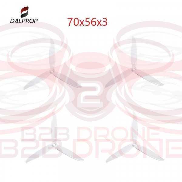 DALPROP - Set Eliche Tripala Cyclone 7056 Pro (7x5.6x3) (2 CW - 2 CCW)