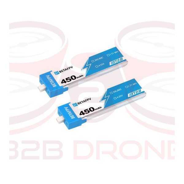 BetaFPV - Batteria 450mAh 1S 30C BT2.0