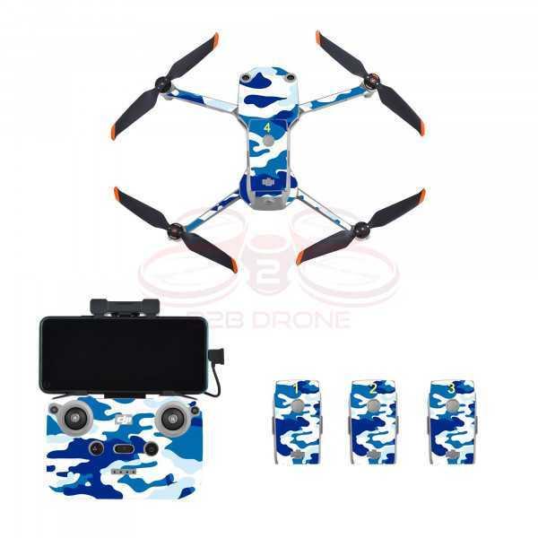 DJI Air 2S - Sticker Camouflage Blue per Drone Radiocomando e Batterie - STARTRC