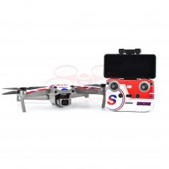 DJI Air 2S - Sticker Red-Blue-White per Drone Radiocomando e Batterie - STARTRC