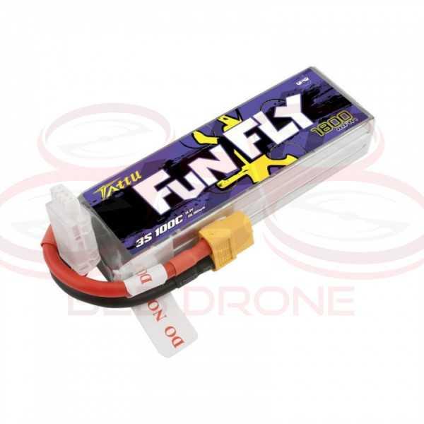 Tattu Fun Fly 1800mAh 11.1V 100C 3S1P Lipo Battery Pack - Plug XT60