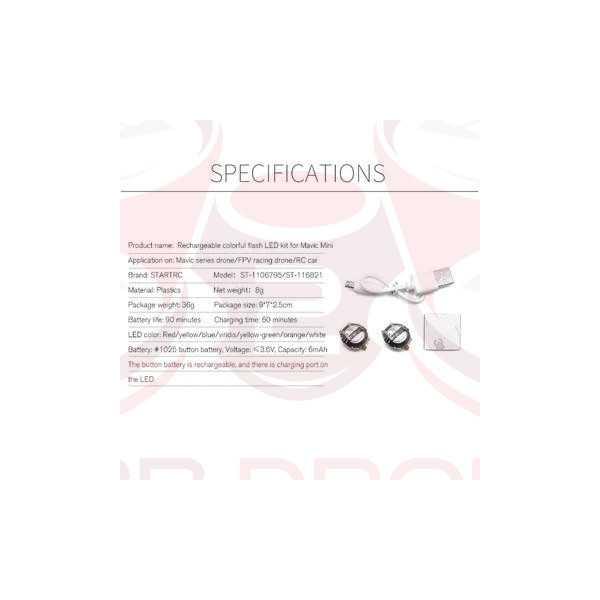 DJI Mavic Mini / Mini 2 - LED colorati per volo notturno - STARTRC