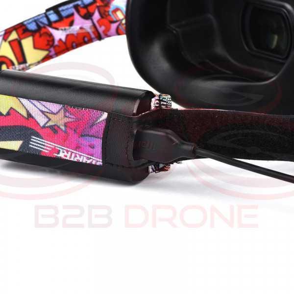 Fascia regolabile per goggles DJI colore rosso - STARTRC