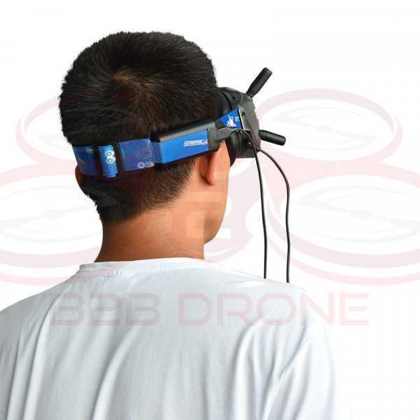 Fascia regolabile per goggles DJI colore blu - STARTRC